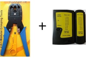Goods Bazaar Combo of Crimping Tool and Lan Cable Tester RJ 45 RJ11 Combo Set