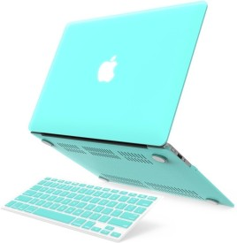 """LUKE For Macbook Air 13"""" 13-Inch Mint Green Hard Case Cover For Macbook Air 13"""" 13.3"""" 13-Inch Shell Cover Case + Get Silicone Keyboard Cover Free+LCD Screen Protector +12pcs Dust plug + Touchpad Protector Free for Macbook Air 13.3""""-Fits Model A1369 Combo Set"""
