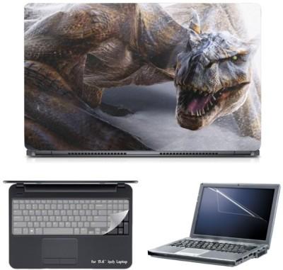 Skin Yard Monster Dinasaurs Laptop Skin with Screen Protector & Keyboard Skin -15.6 Inch Combo Set