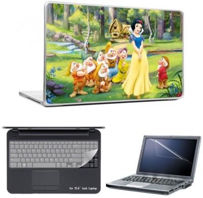 Skin Yard Disney Princess Laptop Skin With Laptop Screen Guard And Laptop Key Guard -15.6 Inch Combo Set