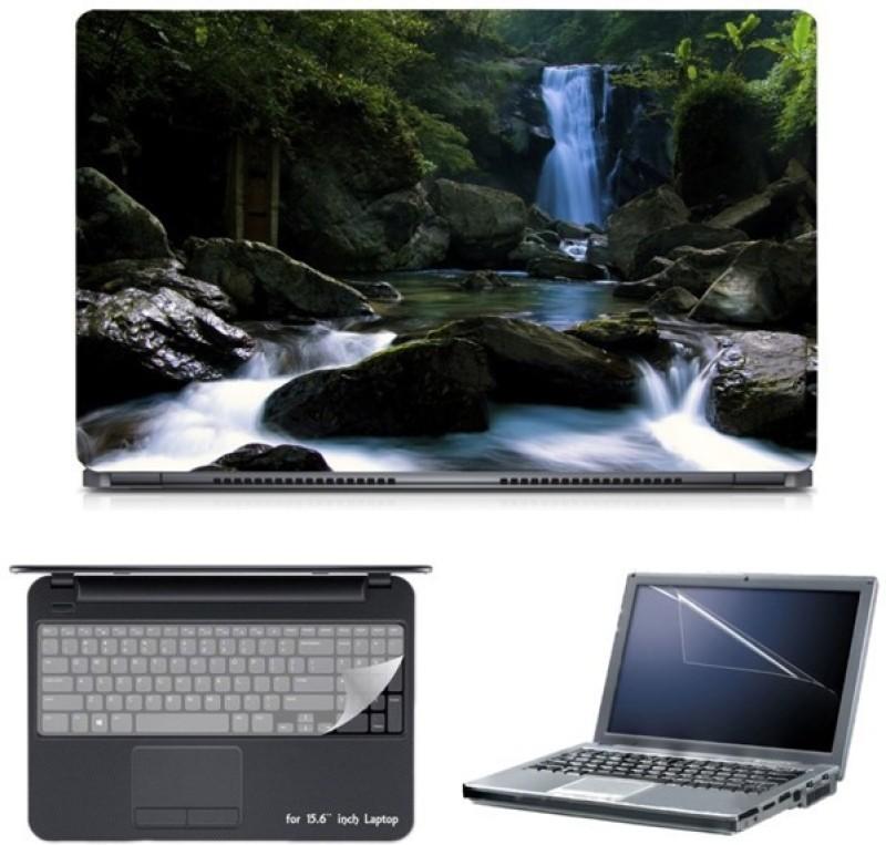 Skin Yard Green Waterfall Laptop Skin with Screen Protector & Keyboard Skin -15.6 Inch Combo Set