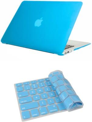 Pindia Aqua Blue Matte Apple Macbook Air 13 13.3 Hard Case & Cover Keyboard Combo Set