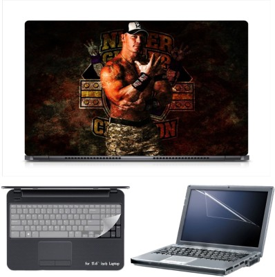 Skin Yard John Cena Laptop Skin Decal with Keyguard & Screen Protector -15.6 Inch Combo Set