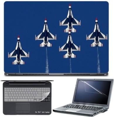 Skin Yard Air Craft Thunder Birds Laptop Skin with Screen Protector & Keyboard Skin -15.6 Inch Combo Set