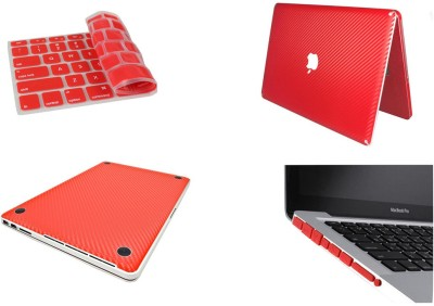 Pindia Red 3 Pc Apple Macbook Pro 15,15.4 inch Md318hn/A Md318ll/A Combo Set