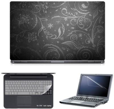Skin Yard Black & White Matte Abstract Laptop Skin with Screen Protector & Keyboard Skin -15.6 Inch Combo Set