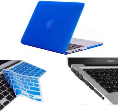 Pindia Royal Blue Matte Finish Apple Macbook Pro 15 15.4 inch Md103hn/A Md103ll/A Hard Case Shell Cover Keyboard Black Anti Dust Ports Combo Set