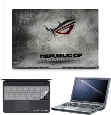 Skin Yard Sparkle Eclipse Republic Of Gamers Laptop Skin with Screen Protector & Keyboard Skin -15.6 Inch Combo Set