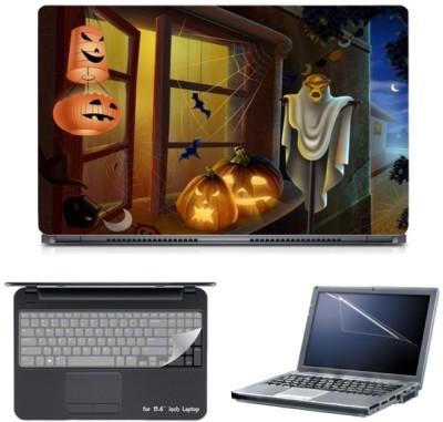 Skin Yard Zombie Halloween Laptop Skin with Screen Protector & Keyboard Skin -15.6 Inch Combo Set