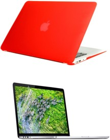 Pindia Red Matte Finish Apple Macbook Pro 15 15.4 inch Md322hn/A Md322ll/A Hard Case Shell Cover Screen Guard Combo Set