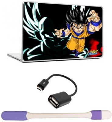 Skin Yard Dragon Wall Laptop Skin with USB LED Light & OTG Cable - 15.6 Inch Combo Set