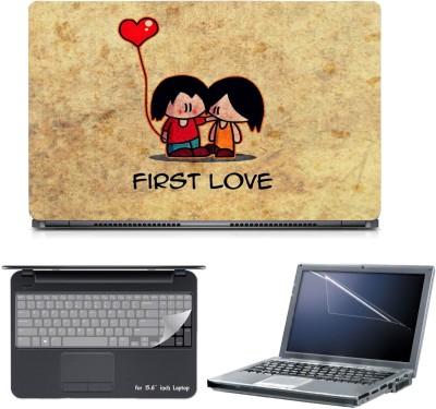 Skin Yard 3in1 Combo- First Love Laptop Skin with Screen Protector & Keyguard -15.6 Inch Combo Set