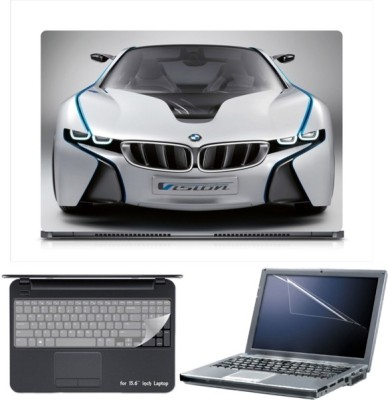 Skin Yard Sparkle BMW Vision Efficient Laptop Skin with Screen Protector & Keyboard Skin -15.6 Inch Combo Set