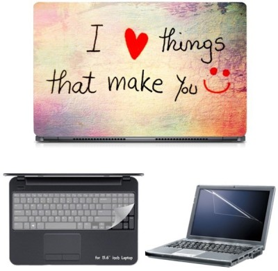 Skin Yard I Luv Things That Make U Sparkle Laptop Skin with Screen Protector & Keyguard -15.6 Inch Combo Set