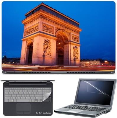 Skin Yard Paris France Arc De Triomph Laptop Skin with Screen Protector & Keyboard Skin -15.6 Inch Combo Set