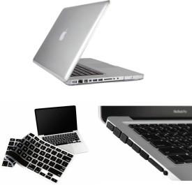 Pindia Transparent Crystal Finish Apple Macbook Pro 15 15.4 inch Ma895hn/A Ma895ll/A Hard Case Shell Cover Black Anti Dust Ports Keyboard Combo Set