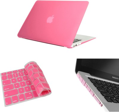 Pindia Pink Matte Finish Apple Retina Macbook Pro 15.4 inch Me665hn/A Me665ll/A Hard Case Shell Cover Anti Dust Ports Keyboard Combo Set