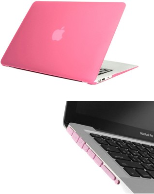 Pindia Pink Matte Finish Apple Macbook Pro 15, 15.4 Inch Ma609hn/A Ma609ll/A Hard Case Shell and Anti Dust Ports Combo Set