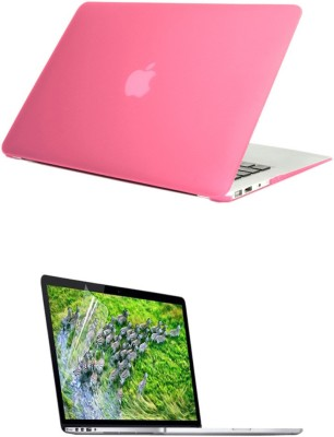 Pindia Pink Matte Finish Apple Macbook Pro 15, 15.4 Inch Mb134hn/A Mb134ll/A Hard Case Shell and Screen Guard Combo Set