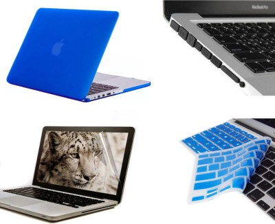 Pindia Royal Blue Matte Finish Apple Macbook Pro 15 15.4 inch Mb471hn/A Mb471ll/A Hard Case Shell Cover Black Anti Dust Ports Keyboard Screen Guard Combo Set