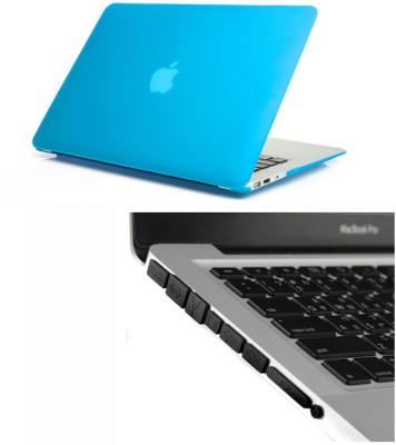Pindia Aqua Blue Matte Finish Apple Macbook Pro 15, 15.4 Inch Mc372hn/A Mc372ll/A Hard Case Shell and Black Anti Dust Ports Combo Set