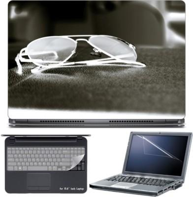 Skin Yard Dark Aviator Laptop Skin with Screen Protector & Keyboard Skin -15.6 Inch Combo Set