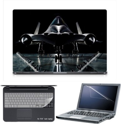 Skin Yard Sparkle Lockheed SR-71 Blackbird Laptop Skin with Screen Protector & Keyboard Skin -15.6 Inch Combo Set