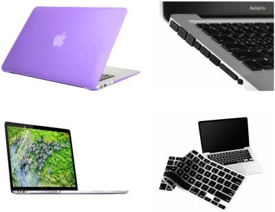 "Pindia Purple Matte Finish Apple Macbook Air 13 13.3 "" Mb940hn/A & Mb940ll/A Hard Case Shell Cover Black Anti Dust Ports Keyboard Screen Guard Combo Set"