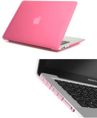Pindia Pink Matte Apple Macbook Pro 13 13.3 Hard Case Cover Anti Dust Ports Combo Set