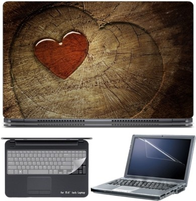 Skin Yard Red Jelly Heart Middle of Love Tree Laptop Skin with Screen Protector & Keyboard Skin -15.6 Inch Combo Set