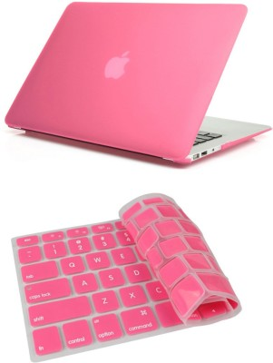 Pindia Pink Matte Finish Apple Macbook Pro 13 13.3 inch Mb990hn/A Mb990ll/A Hard Case Shell Cover Keyboard Combo Set