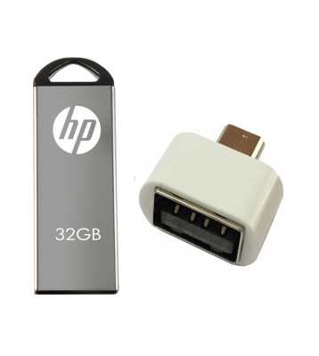 HP 32 GB V220w Pen Drive with OTG Adapter Combo Set