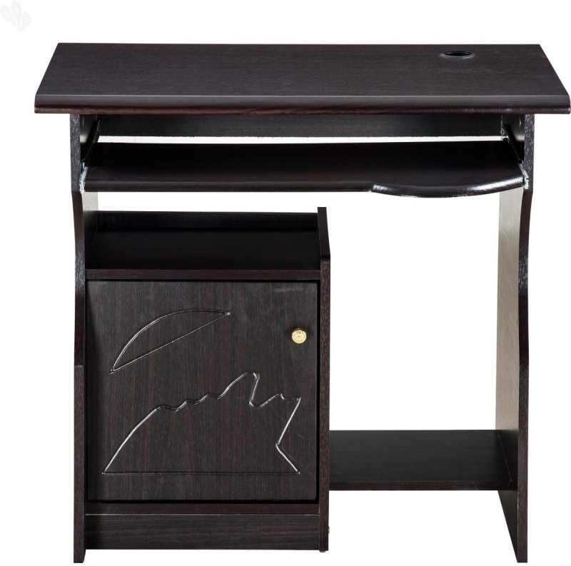 Wood Wizard Solid Wood Computer Desk(Modular, Finish Color - Black)