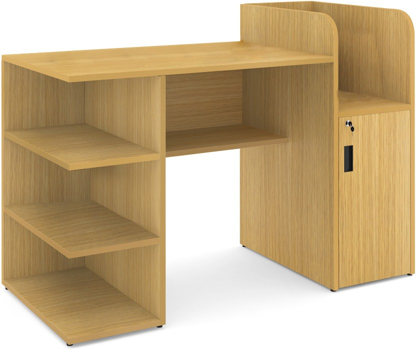 View UNiCOS Scholar Engineered Wood Computer Desk(Modular, Finish Color - Urban Teak) Furniture (UNiCOS)