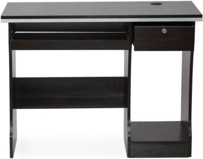 Nilkamal Austin Engineered Wood Computer Desk(Straight, Finish Color - Black)