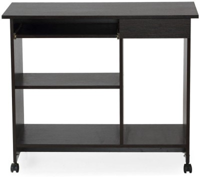 Nilkamal Spacio Engineered Wood Computer Desk(Straight, Finish Color - Black)