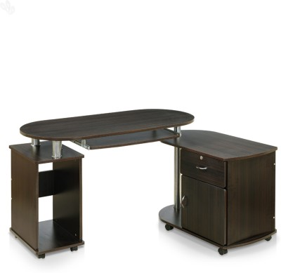 Royal Oak Cathy Engineered Wood Computer Desk(L-shaped, Finish Color - Dark Brown)