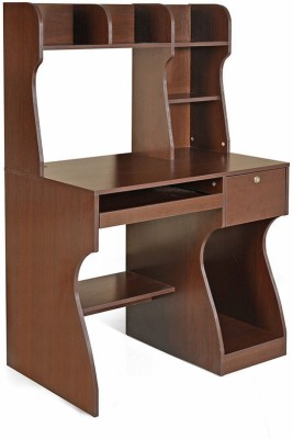 @home by Nilkamal Miguel Engineered Wood Computer Desk(Straight, Finish Color - Brown)