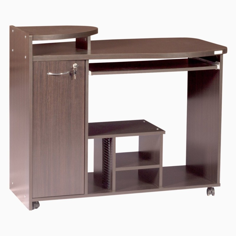 Godrej Interio Caompanion C13 Engineered Wood Computer Desk(Straight, Finish Color - Walnut)