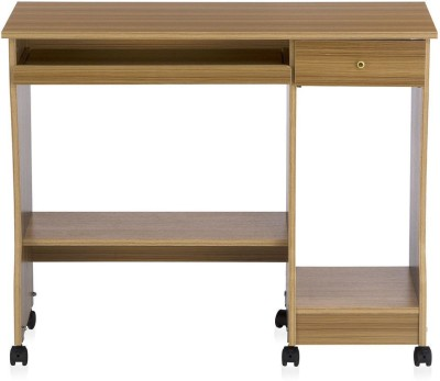 Nilkamal Zenith Engineered Wood Computer Desk(Straight, Finish Color - Teak)