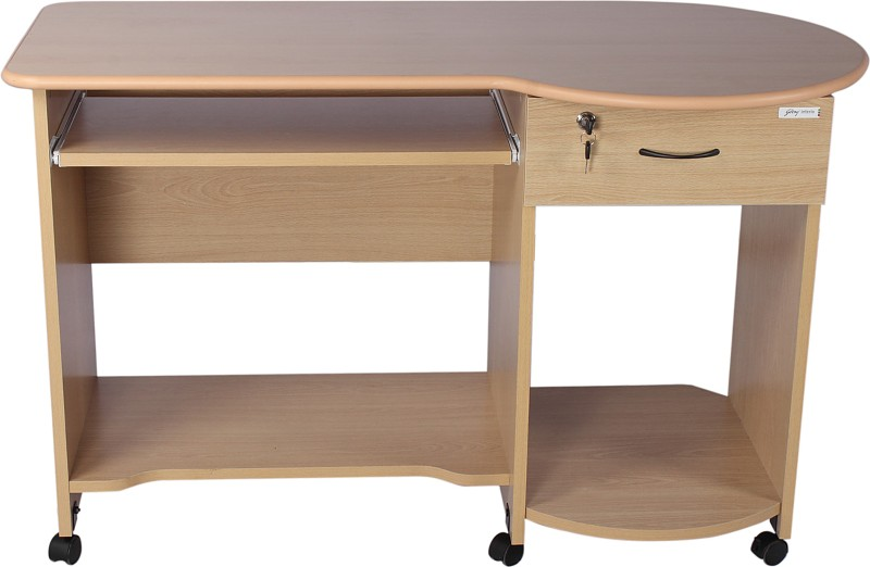 Godrej Interio Companion C3 Engineered Wood Computer Desk(Straight, Finish Color - Beverian Beech)