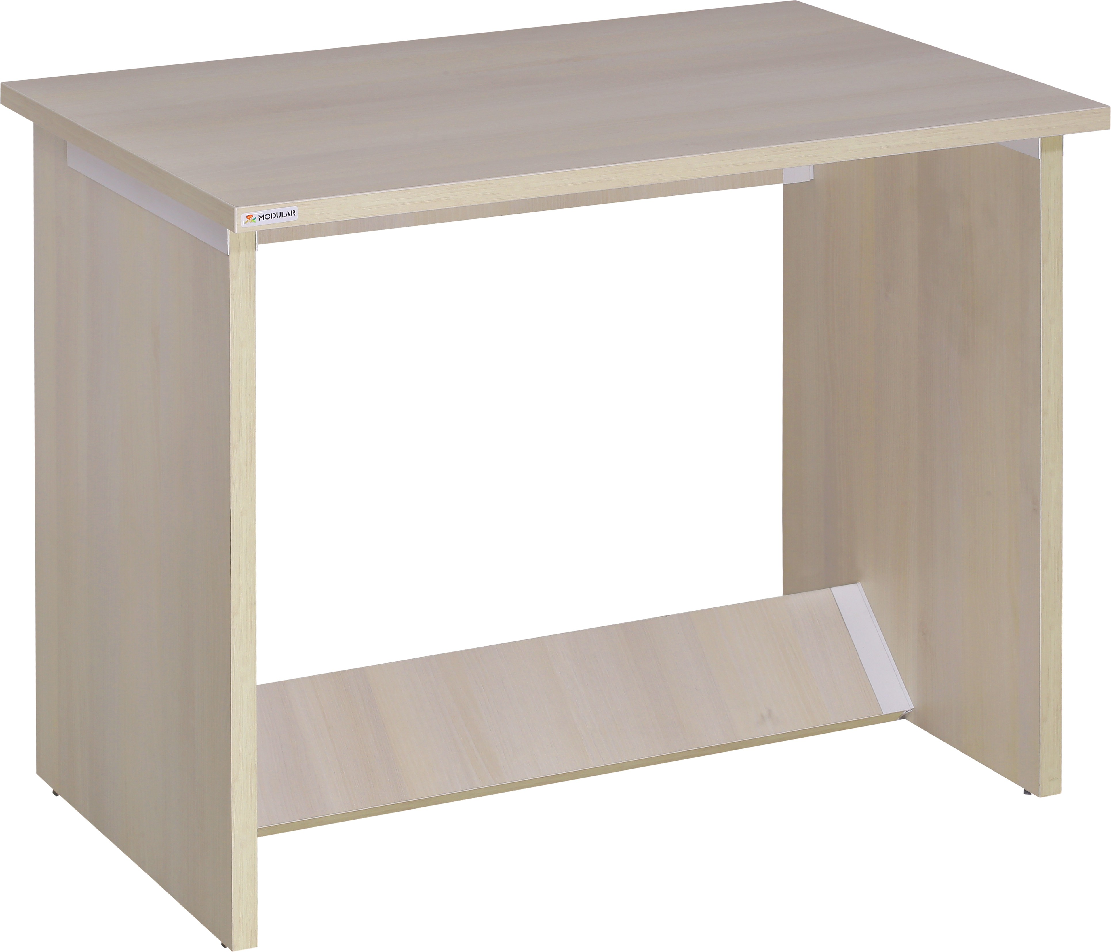 View EPL Modular Engineered Wood Workstation(Straight, Finish Color - Cream) Furniture (EPL Modular)