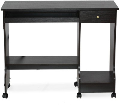 Nilkamal Zenith Engineered Wood Computer Desk(Straight, Finish Color - Black)