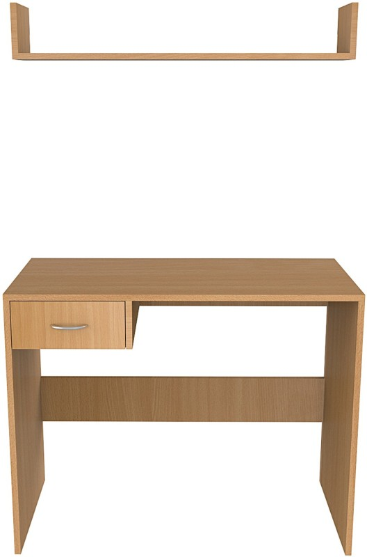 North Star MYSPACE Engineered Wood Computer Desk(Modular, Finish Color - Bavarian Beech)