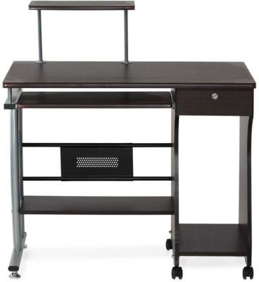 Nilkamal Gamma Engineered Wood Computer Desk(Straight, Finish Color - Brown)
