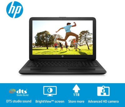 HP Core i5 4th Gen - (4 GB/1 TB HDD/DOS) V5D75PA 15-ac650TU Notebook(15.6 inch, Jack Black Color With Textured Diamond Pattern, 2.19 kg)