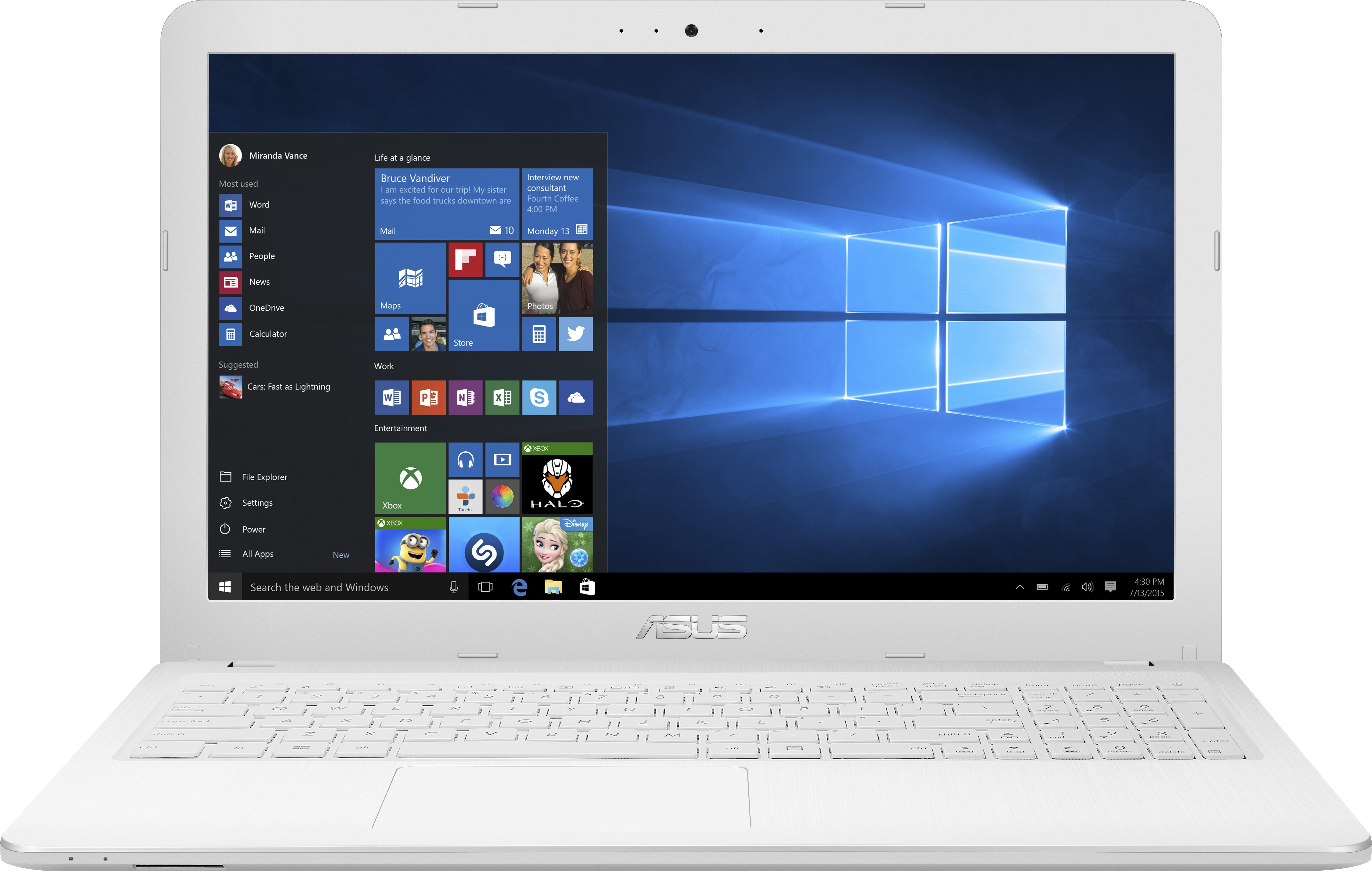 View Asus Core i3 5th Gen - (4 GB/1 TB HDD/DOS) X540LA-XX440D Notebook(15.6 inch, White, 2 kg) Laptop