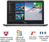 View Dell Inspiron 5000 Core i5 - (4 GB/1 TB HDD/Windows 10 Home/2 GB Graphics) Z563504SIN9G 5567 Notebook(15.6 inch, Grey, 2.36 kg) Laptop