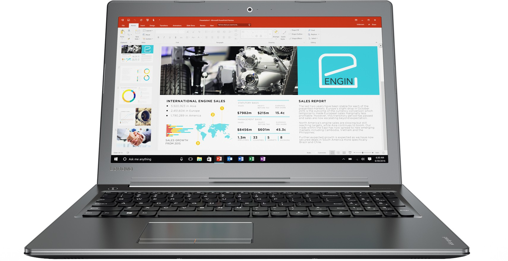Lenovo Core i7 7th Gen - (8 GB/2 TB HDD/Windows 10 Home/4 GB Graphics) 510 Notebook(15.6 inch, Gun Metal, 2.2 kg) image