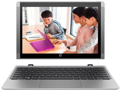 HP Atom - (2 GB/32 GB EMMC Storage/Windows 10 Home) T6T50PA x2 210 2 in 1 Laptop(10.1 inch, SIlver, 1.139 kg)